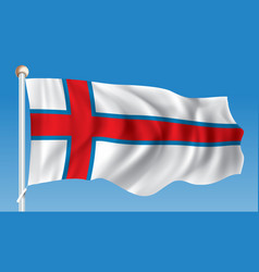 flag of faroe islands vector image