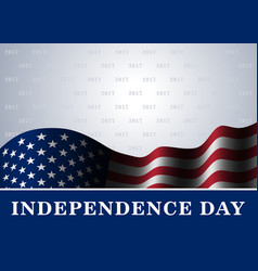 Independence day usa background flag vector