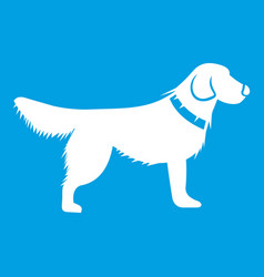 Dog icon white vector