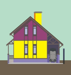 01 colored house v vector