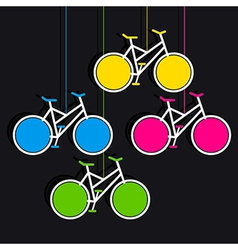 Bicycle hang info-graphics design vector