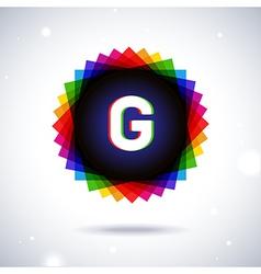 Spectrum logo icon letter g vector