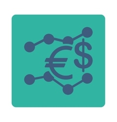 Currency trends icon vector