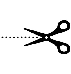 Cutting scissors image and points vector