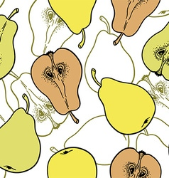 Pear pattern background vector