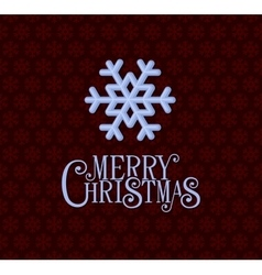 Red christmas background with snowflakes vector