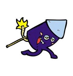 comic cartoon funny firework character vector image