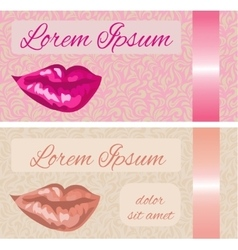 Business card with lips vector image