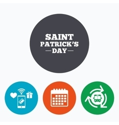 Saint patrick sign icon holiday symbol vector