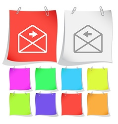 Mail right arrow vector