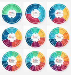 Pie chart circle infographic templates vector