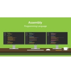 Assembly programming language code vector image vector image