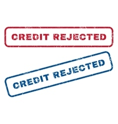Credit rejected rubber stamps vector