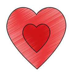 Cute big heart vector