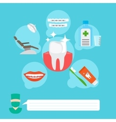Dental health care infographic concept vector