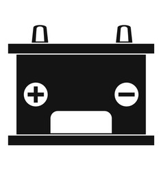 Electricity accumulator battery icon simple style vector