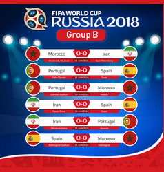 Fifa world cup russia 2018 group b fixture vector