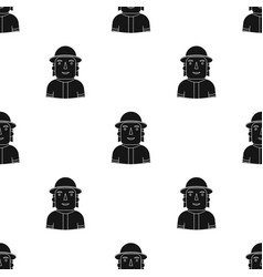 Firefighter icon in black style isolated on white vector