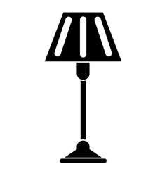 Floor lamp decoration pictogram vector