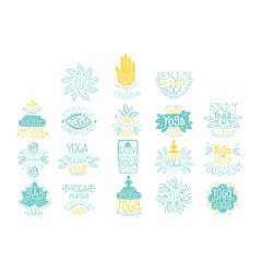 hand drawn creative design yoga ayurvedic club vector image