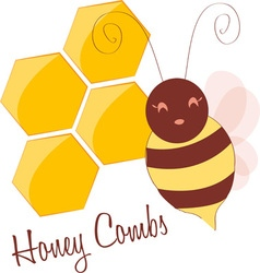 Honey combs vector