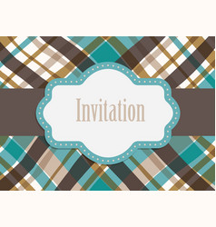 Invitation design card vector