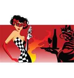 Joker card design vector image vector image