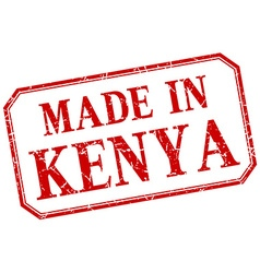 Kenya - made in red vintage isolated label vector image