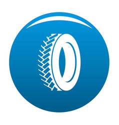 One tyre icon blue vector