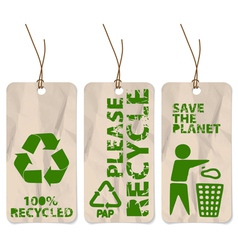 recycling tags vector image vector image