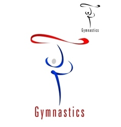 Rhythmic gymnastics emblem or symbol vector image