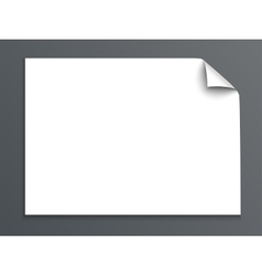 Sheet of paper with curl corner isolated on dark vector image vector image
