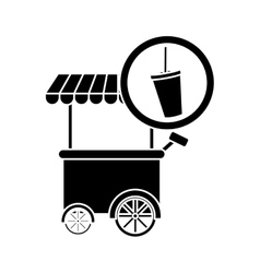 Soda fast food car icon vector