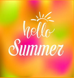 Summer color abstrack background vector