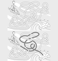 surfer maze vector image vector image