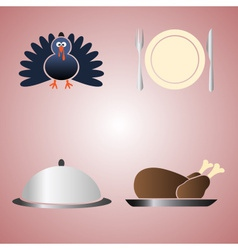 thanksgiving food color symbols eps10 vector image vector image