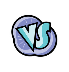 vs letters logo in cartoon style vector image vector image