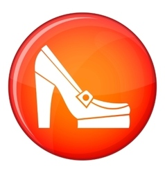 Women shoes on platform icon flat style vector