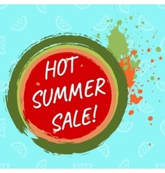 Hot summer sale template vector