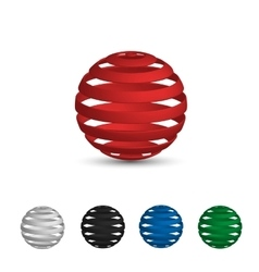 A set of logos balls tape red white black vector image