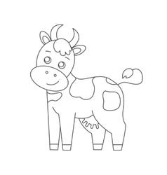 Cow for coloring book vector