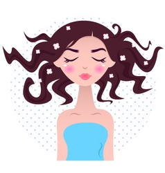 Spa woman with beautiful hair vector