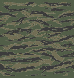 Classic tiger stripe camouflage seamless patterns vector