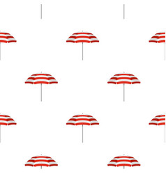 beach umbrella pattern flat vector image