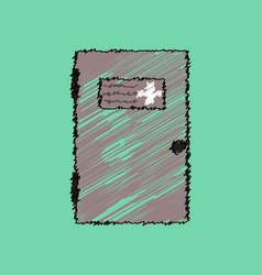 flat shading style icon doctors door vector image