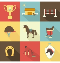 Horse and dressage icons vector image