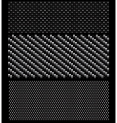Carbon pattern set vector image