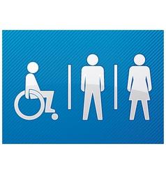 toilet symbol vector image