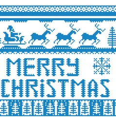 Knitted christmas background vector
