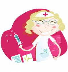 hospital nurse vector image